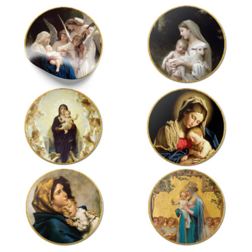 Classic Art Madonnas Stickers - Pack of 6