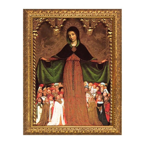 Mary Mother of Mercy Gold Framed Art - Small