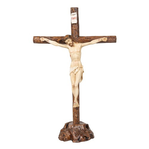 "Italian Standing Crucifix - 14"""