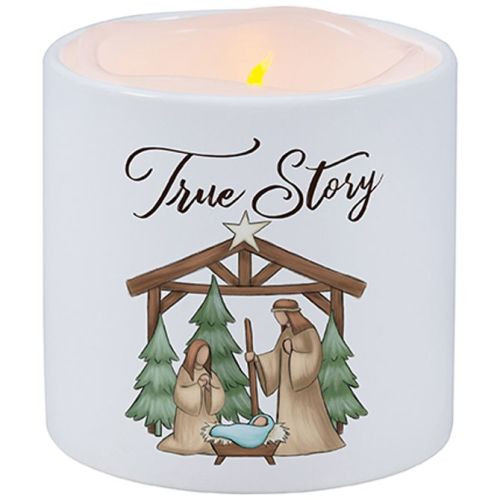 Vanilla Scented Flameless Nativity Candle