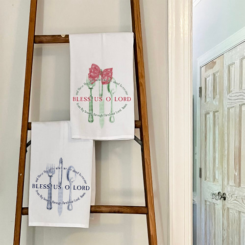 Set of Bless Us O Lord Dish Towels - 2 towels