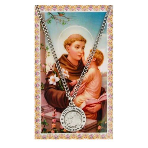 St. Anthony Patron Saint Prayer Card w/ Medal