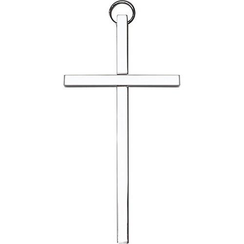 4 inch Plain Polished Silver Finish Cross