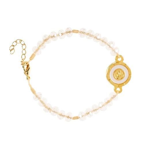 Crystal Miraculous Medal Bracelet
