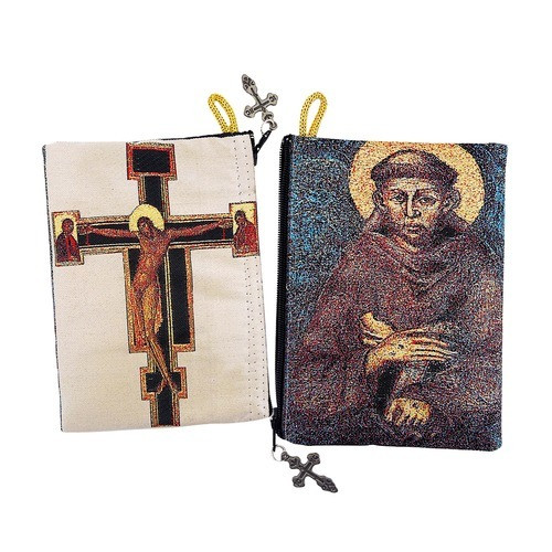 San Damiano Cross & St. Francis Rosary Pouch