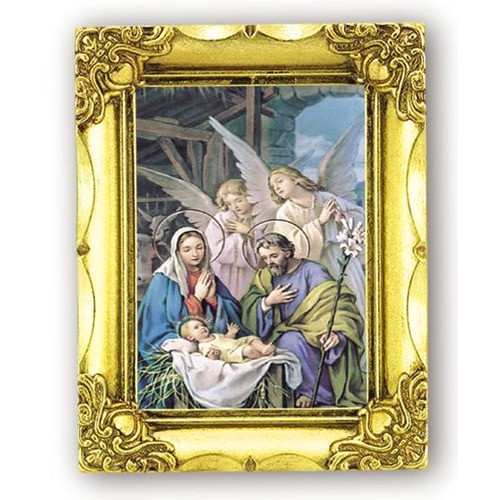 Angelic Nativity Gold Framed Plaque