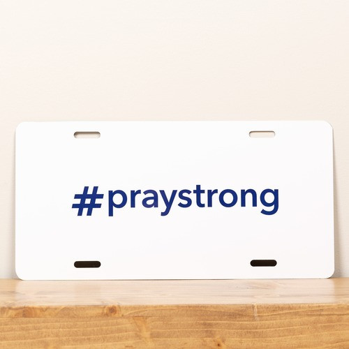 #PrayStrong License Plate