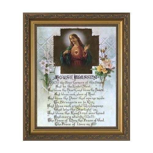House Blessing w/ Gold Frame