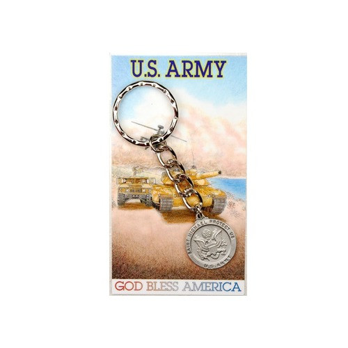 U.S. Army St. Michael Keyring with Prayer Card