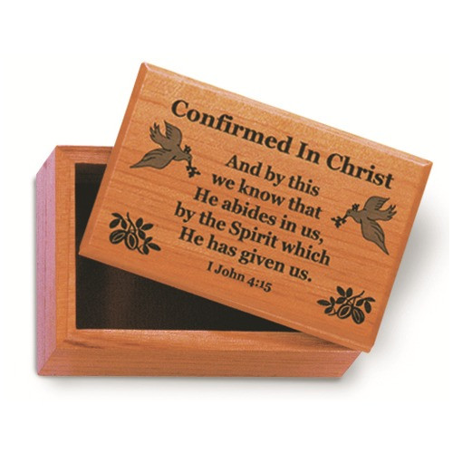 Mahogany Confirmation Rosary Box