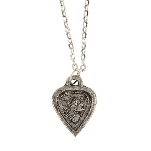 Handcrafted Pewter St. Dymphna Necklace