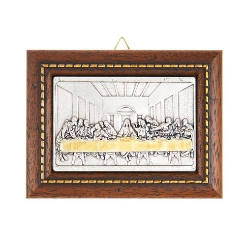 Miniature Last Supper Dark Wood Plaque