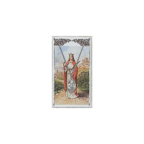 St. Barbara Patron Saint Prayer Card w/Medal