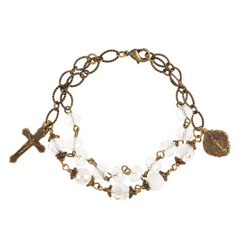 Light of Christ Handcrafted Rosary Bracelet
