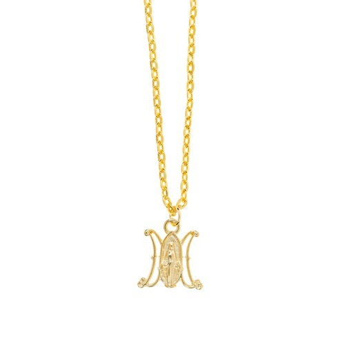 Ave Maria Miraculous Pendant Necklace