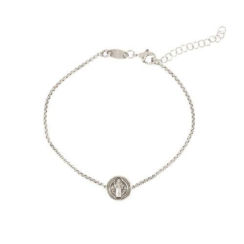 SS St. Benedict Medal Strung Bracelet