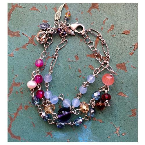 Crown of Mary Gemstone & Crystal Bracelet