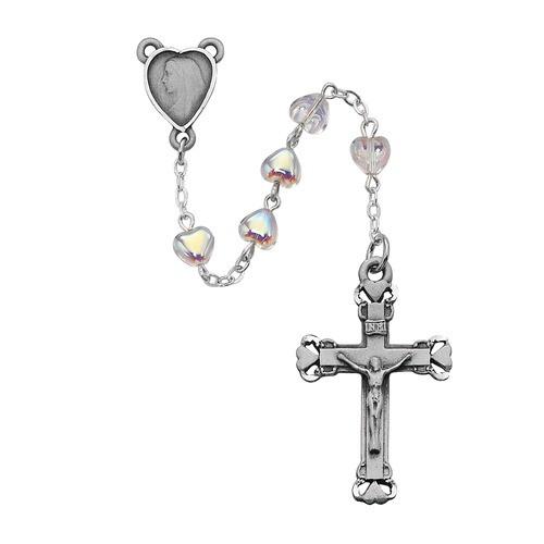 Aurora Glass Heart Rosary