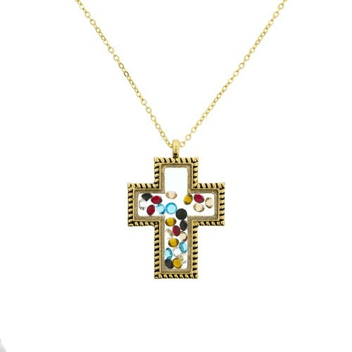Gold Story of Christ Necklace