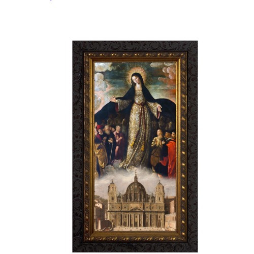 Mary Mother of the Church Ornate Framed Art - Medium