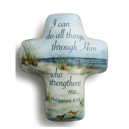 All Things Through Christ Hand Cross