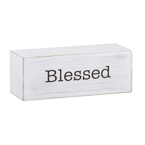 Blessed Decorative Wood Block