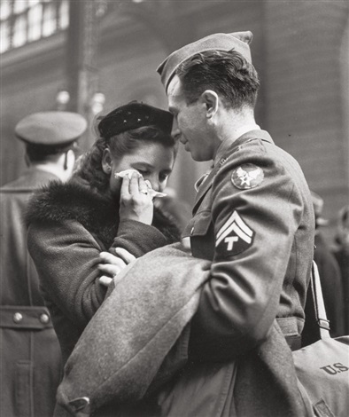 Good Bye at Penn Station by Alfred Eisenstaedt