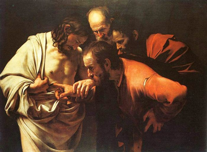 """""""The Incredulity of St. Thomas"""" by Caravaggio"""