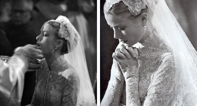 Grace Kelly wedding day