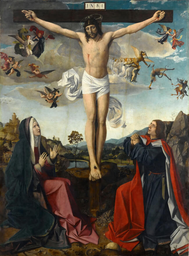 The Crucifixion by Josse Lieferinxe