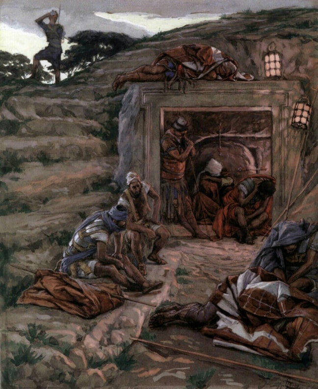 The Watch Over the Tomb by James Tissot