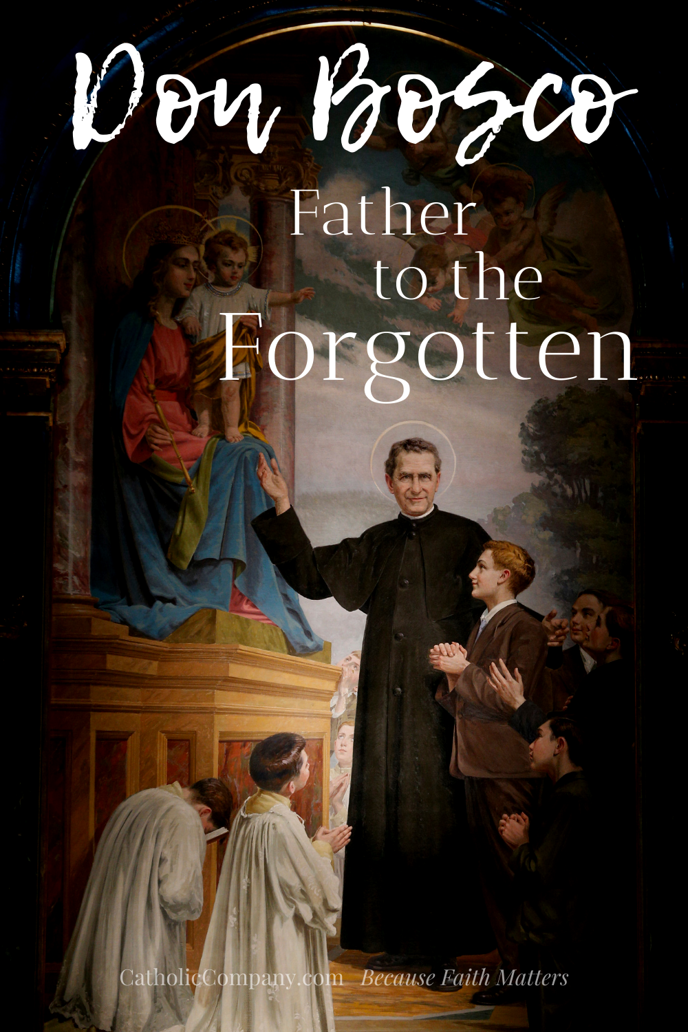 We need St. Bosco's intercession. More than ever. To understand why, let's re-discover his amazing story.