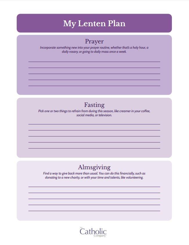 My Lenten Plan PDF