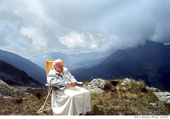 Pope John Paul II at rest in the beauty of creation