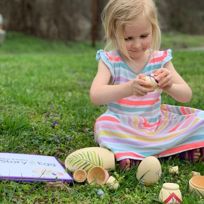 The Easter Egg Story for children