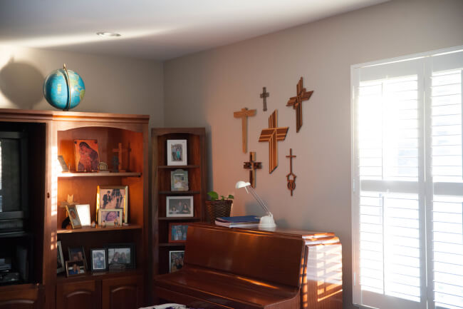 Home prayer corner.