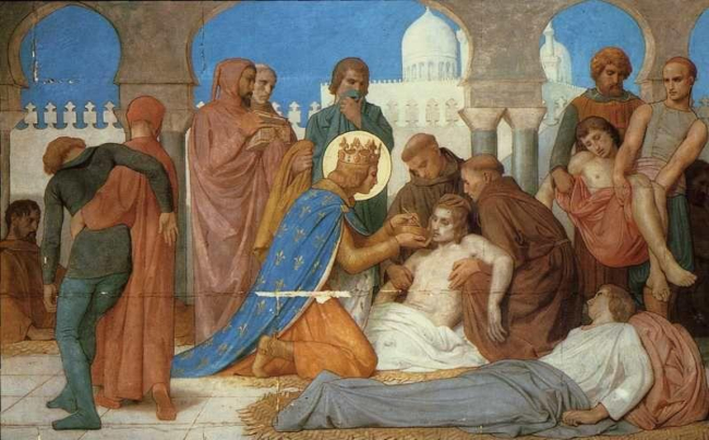 Saint Louis Caring for the Plague Victims by William-Adolphe Bouguereau