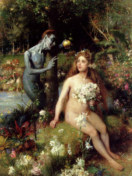 The temptation of Eve by Pierre Jean van der Ouderaa