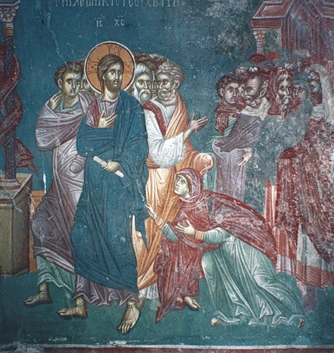 Christ and the woman with the hemorrhage