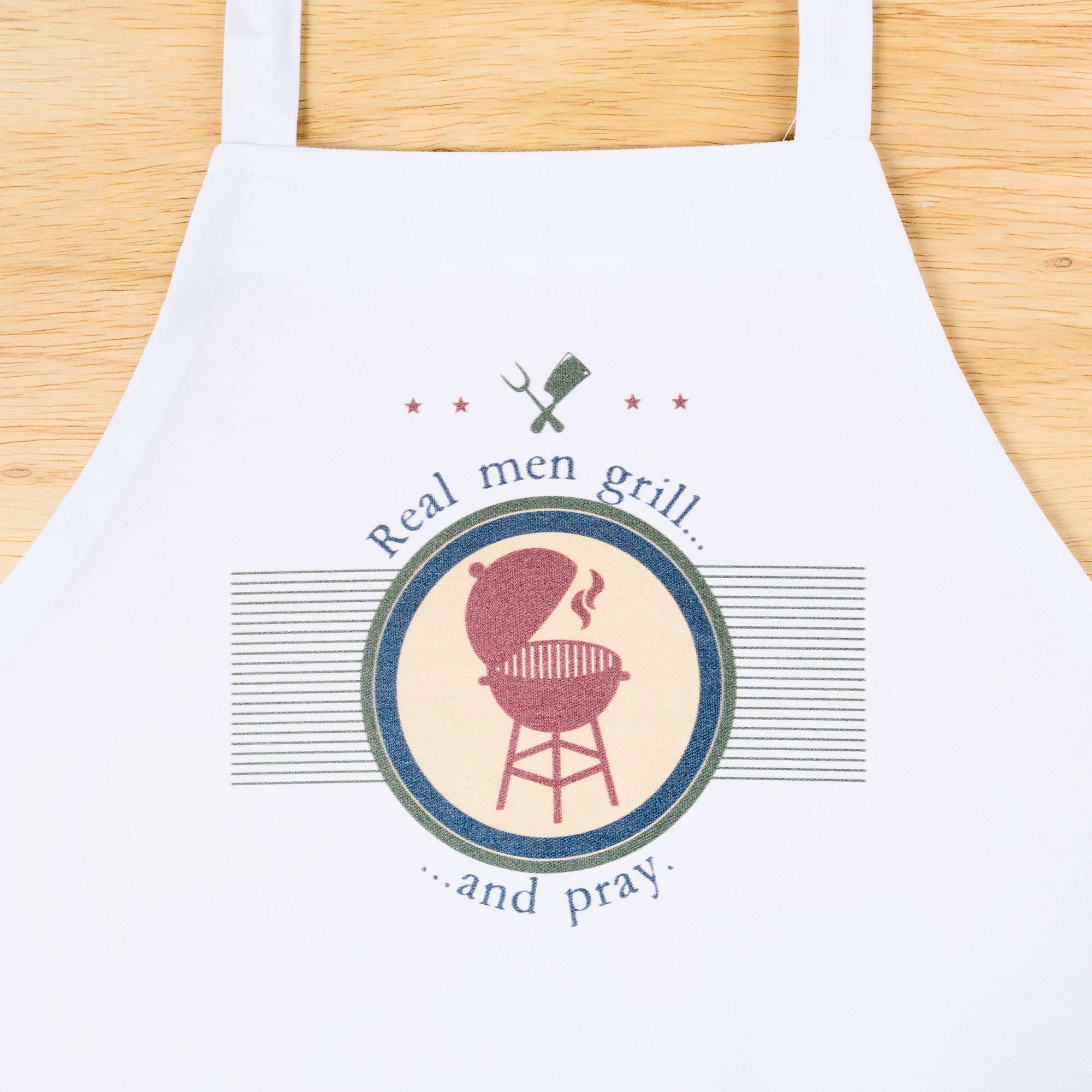 Real Men Grill...and Pray apron