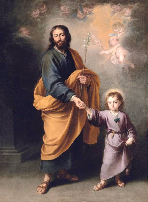 St Joseph and the Christ Child (c. 1655–60), Bartolomé Esteban Murillo