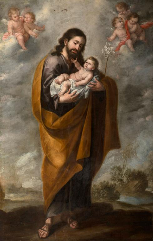St. Joseph holding the Christ Child
