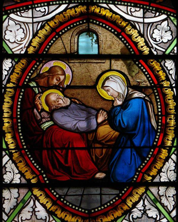 St. Joseph, dying in the presence of Jesus and Mary