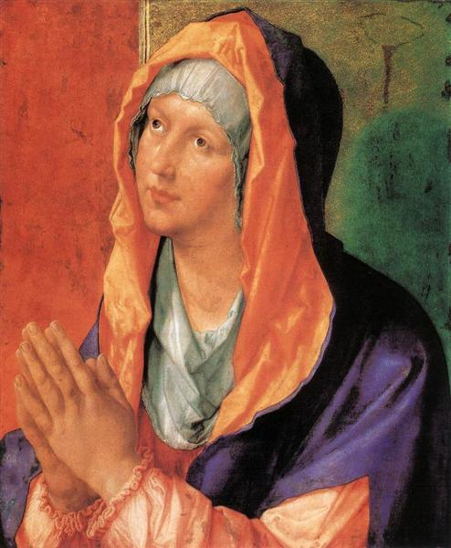 The Virgin Mary in Prayer by Albrecht Dürer