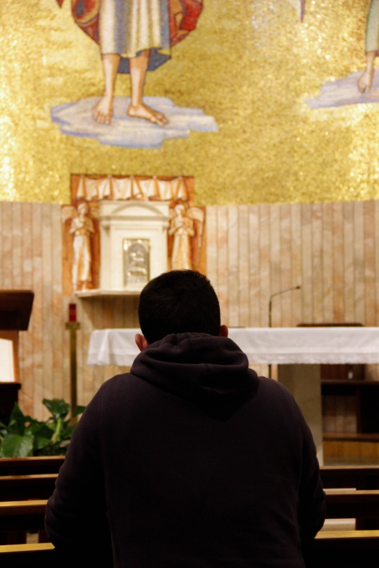 Quiet time with Jesus in the Blessed Sacrament