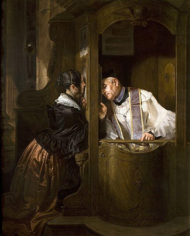 The Confession by Giuseppe Molteni