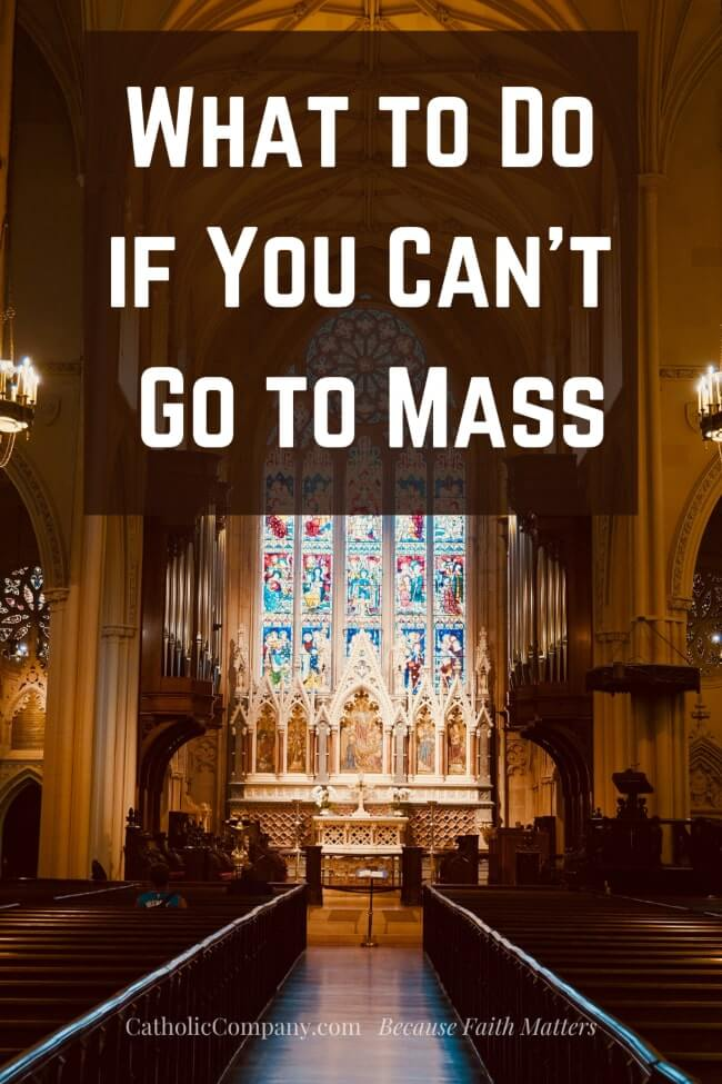 A guide to keeping the Sabbath Holy when you can't go to Mass.