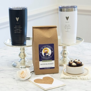 """""""The Greatest…Is Love"""" His & Hers Coffee Gift Box"""