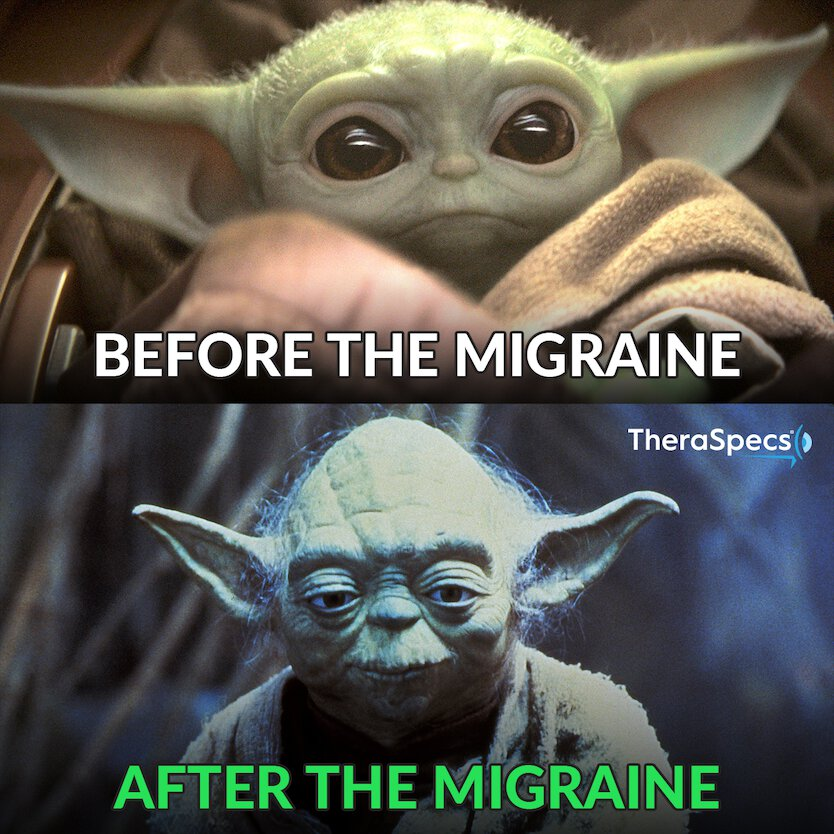 Migraine Meme, Before-After Attack, Baby Yoda