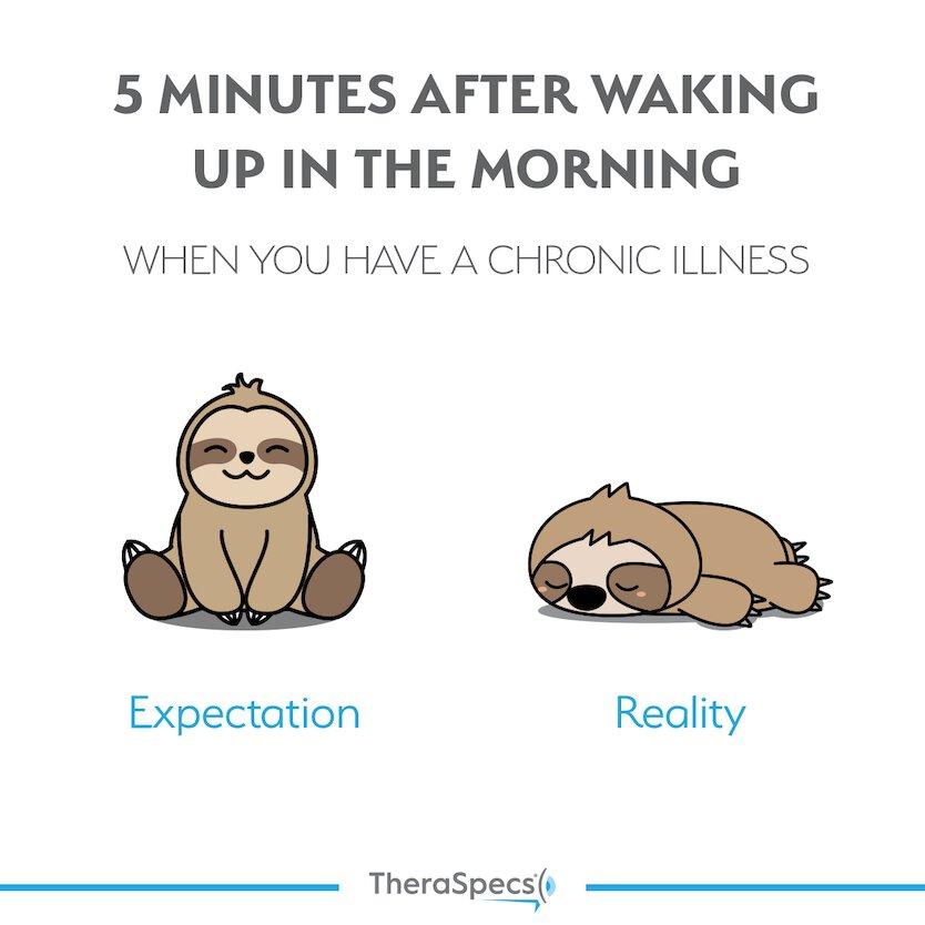 Migraine Meme, Chronic Illness Waking up Tired